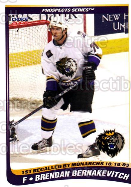 2005-06 Manchester Monarchs Series Two #1 Brendan Bernakevitch<br/>5 In Stock - $3.00 each - <a href=https://centericecollectibles.foxycart.com/cart?name=2005-06%20Manchester%20Monarchs%20Series%20Two%20%231%20Brendan%20Bernake...&quantity_max=5&price=$3.00&code=127085 class=foxycart> Buy it now! </a>