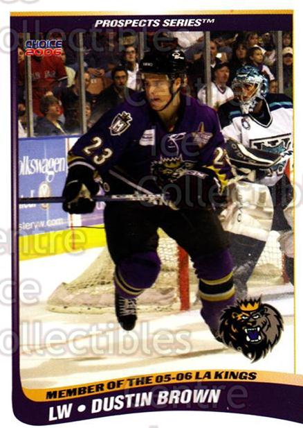 2005-06 Manchester Monarchs Series Two #2 Dustin Brown<br/>5 In Stock - $3.00 each - <a href=https://centericecollectibles.foxycart.com/cart?name=2005-06%20Manchester%20Monarchs%20Series%20Two%20%232%20Dustin%20Brown...&quantity_max=5&price=$3.00&code=127086 class=foxycart> Buy it now! </a>