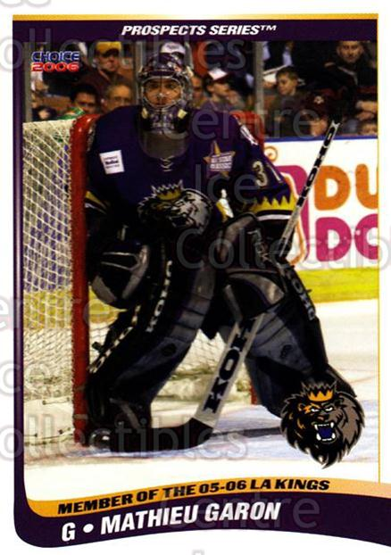 2005-06 Manchester Monarchs Series Two #7 Mathieu Garon<br/>4 In Stock - $3.00 each - <a href=https://centericecollectibles.foxycart.com/cart?name=2005-06%20Manchester%20Monarchs%20Series%20Two%20%237%20Mathieu%20Garon...&quantity_max=4&price=$3.00&code=127092 class=foxycart> Buy it now! </a>
