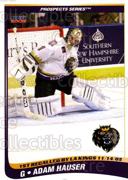 2005-06 Manchester Monarchs Series Two #11 Adam Hauser<br/>3 In Stock - $3.00 each - <a href=https://centericecollectibles.foxycart.com/cart?name=2005-06%20Manchester%20Monarchs%20Series%20Two%20%2311%20Adam%20Hauser...&quantity_max=3&price=$3.00&code=127096 class=foxycart> Buy it now! </a>
