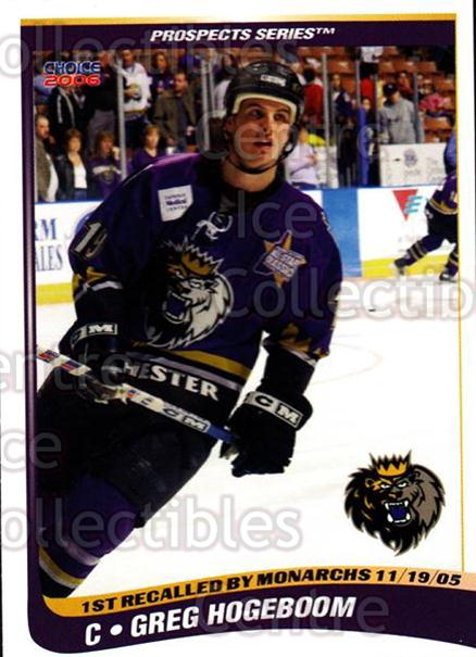 2005-06 Manchester Monarchs Series Two #12 Greg Hogeboom<br/>6 In Stock - $3.00 each - <a href=https://centericecollectibles.foxycart.com/cart?name=2005-06%20Manchester%20Monarchs%20Series%20Two%20%2312%20Greg%20Hogeboom...&quantity_max=6&price=$3.00&code=127097 class=foxycart> Buy it now! </a>
