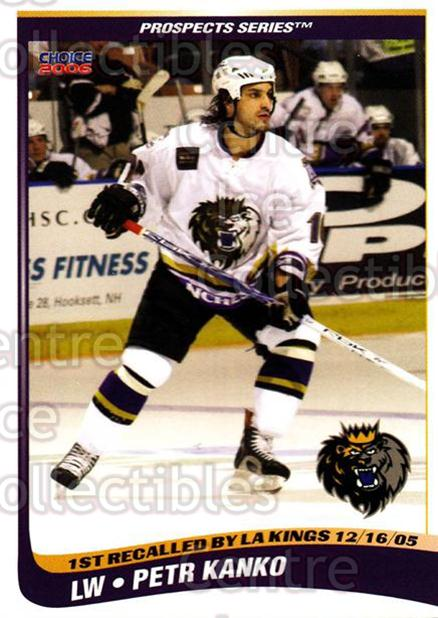 2005-06 Manchester Monarchs Series Two #14 Petr Kanko<br/>4 In Stock - $3.00 each - <a href=https://centericecollectibles.foxycart.com/cart?name=2005-06%20Manchester%20Monarchs%20Series%20Two%20%2314%20Petr%20Kanko...&quantity_max=4&price=$3.00&code=127099 class=foxycart> Buy it now! </a>