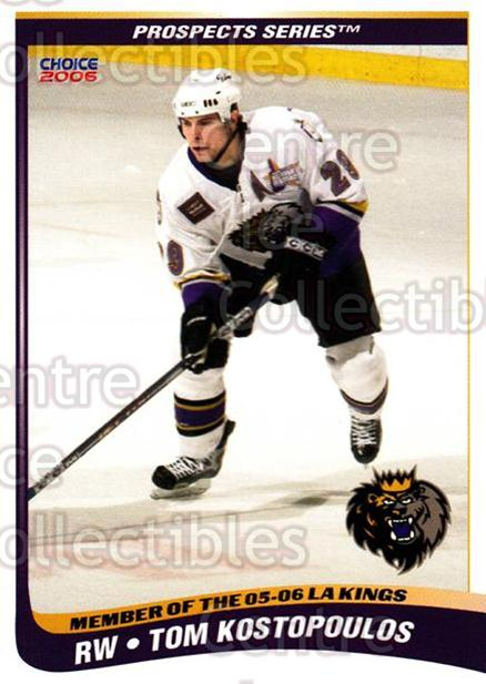 2005-06 Manchester Monarchs Series Two #15 Tom Kostopoulos<br/>6 In Stock - $3.00 each - <a href=https://centericecollectibles.foxycart.com/cart?name=2005-06%20Manchester%20Monarchs%20Series%20Two%20%2315%20Tom%20Kostopoulos...&quantity_max=6&price=$3.00&code=127100 class=foxycart> Buy it now! </a>