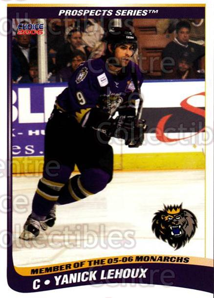 2005-06 Manchester Monarchs Series Two #16 Yanick Lehoux<br/>6 In Stock - $3.00 each - <a href=https://centericecollectibles.foxycart.com/cart?name=2005-06%20Manchester%20Monarchs%20Series%20Two%20%2316%20Yanick%20Lehoux...&quantity_max=6&price=$3.00&code=127102 class=foxycart> Buy it now! </a>