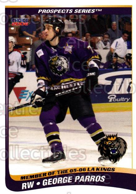 2005-06 Manchester Monarchs Series Two #17 George Parros<br/>3 In Stock - $3.00 each - <a href=https://centericecollectibles.foxycart.com/cart?name=2005-06%20Manchester%20Monarchs%20Series%20Two%20%2317%20George%20Parros...&quantity_max=3&price=$3.00&code=127103 class=foxycart> Buy it now! </a>
