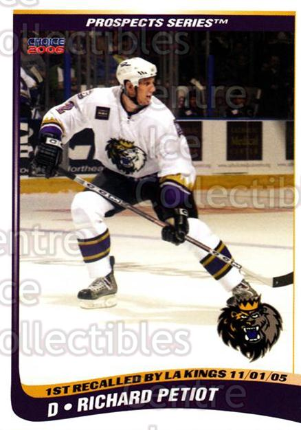2005-06 Manchester Monarchs Series Two #18 Richard Petiot<br/>5 In Stock - $3.00 each - <a href=https://centericecollectibles.foxycart.com/cart?name=2005-06%20Manchester%20Monarchs%20Series%20Two%20%2318%20Richard%20Petiot...&quantity_max=5&price=$3.00&code=127104 class=foxycart> Buy it now! </a>