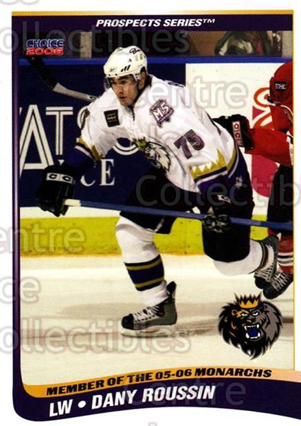 2005-06 Manchester Monarchs Series Two #20 Dany Roussin<br/>6 In Stock - $3.00 each - <a href=https://centericecollectibles.foxycart.com/cart?name=2005-06%20Manchester%20Monarchs%20Series%20Two%20%2320%20Dany%20Roussin...&quantity_max=6&price=$3.00&code=127106 class=foxycart> Buy it now! </a>