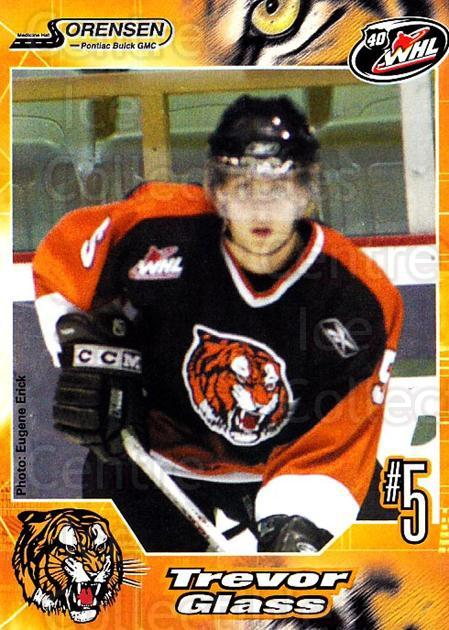 2005-06 Medicine Hat Tigers #11 Trevor Glass<br/>1 In Stock - $3.00 each - <a href=https://centericecollectibles.foxycart.com/cart?name=2005-06%20Medicine%20Hat%20Tigers%20%2311%20Trevor%20Glass...&quantity_max=1&price=$3.00&code=127205 class=foxycart> Buy it now! </a>