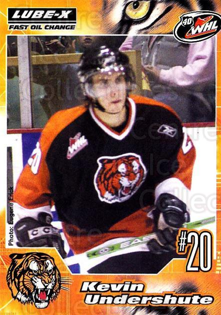 2005-06 Medicine Hat Tigers #24 Kevin Undershute<br/>1 In Stock - $3.00 each - <a href=https://centericecollectibles.foxycart.com/cart?name=2005-06%20Medicine%20Hat%20Tigers%20%2324%20Kevin%20Undershut...&quantity_max=1&price=$3.00&code=127213 class=foxycart> Buy it now! </a>
