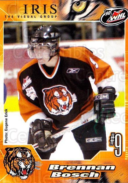 2005-06 Medicine Hat Tigers #6 Brennan Bosch<br/>2 In Stock - $3.00 each - <a href=https://centericecollectibles.foxycart.com/cart?name=2005-06%20Medicine%20Hat%20Tigers%20%236%20Brennan%20Bosch...&quantity_max=2&price=$3.00&code=127216 class=foxycart> Buy it now! </a>