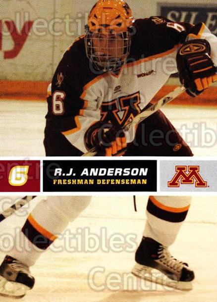 2005-06 Minnesota Golden Gophers #1 RJ Anderson<br/>6 In Stock - $3.00 each - <a href=https://centericecollectibles.foxycart.com/cart?name=2005-06%20Minnesota%20Golden%20Gophers%20%231%20RJ%20Anderson...&quantity_max=6&price=$3.00&code=127219 class=foxycart> Buy it now! </a>