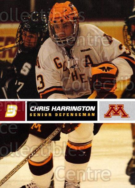 2005-06 Minnesota Golden Gophers #12 Chris Harrington<br/>7 In Stock - $3.00 each - <a href=https://centericecollectibles.foxycart.com/cart?name=2005-06%20Minnesota%20Golden%20Gophers%20%2312%20Chris%20Harringto...&quantity_max=7&price=$3.00&code=127222 class=foxycart> Buy it now! </a>