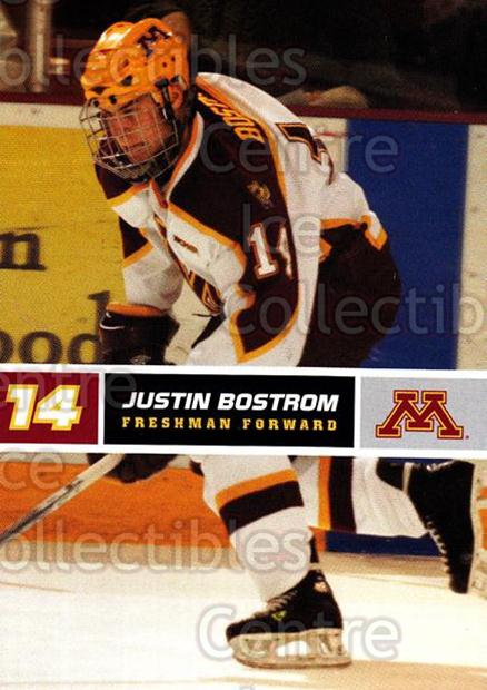 2005-06 Minnesota Golden Gophers #4 Justin Bostrom<br/>6 In Stock - $3.00 each - <a href=https://centericecollectibles.foxycart.com/cart?name=2005-06%20Minnesota%20Golden%20Gophers%20%234%20Justin%20Bostrom...&quantity_max=6&price=$3.00&code=127239 class=foxycart> Buy it now! </a>
