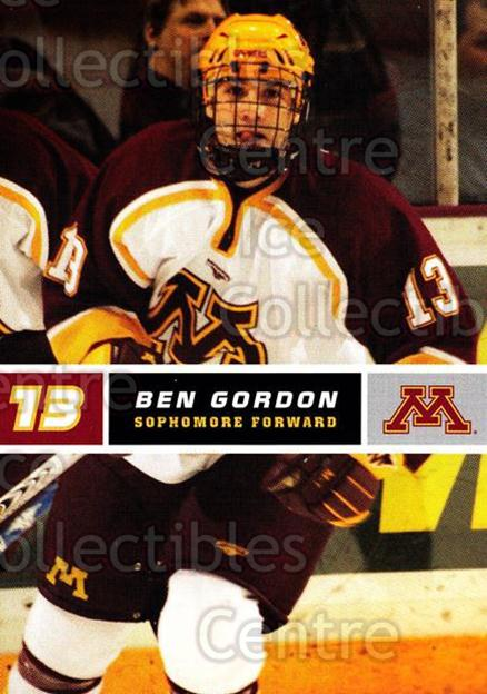 2005-06 Minnesota Golden Gophers #9 Ben Gordon<br/>8 In Stock - $3.00 each - <a href=https://centericecollectibles.foxycart.com/cart?name=2005-06%20Minnesota%20Golden%20Gophers%20%239%20Ben%20Gordon...&quantity_max=8&price=$3.00&code=127243 class=foxycart> Buy it now! </a>