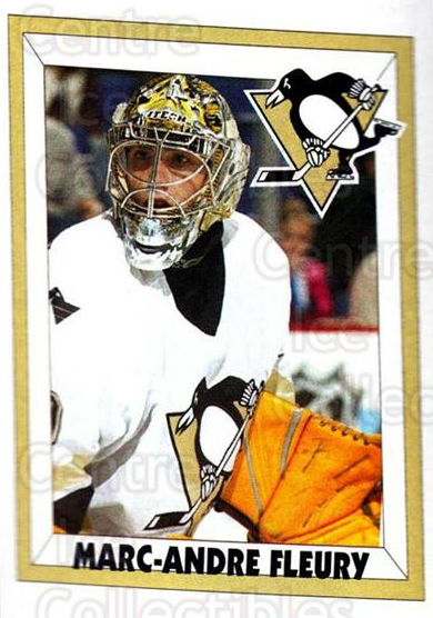 2005-06 Panini Stickers #147 Marc-Andre Fleury<br/>10 In Stock - $2.00 each - <a href=https://centericecollectibles.foxycart.com/cart?name=2005-06%20Panini%20Stickers%20%23147%20Marc-Andre%20Fleu...&quantity_max=10&price=$2.00&code=127538 class=foxycart> Buy it now! </a>