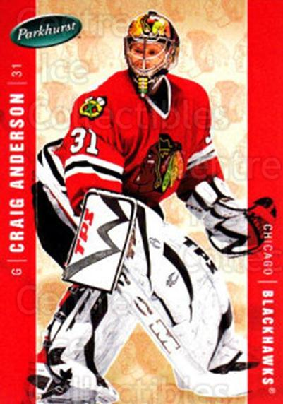 2005-06 Parkhurst #107 Craig Anderson<br/>6 In Stock - $1.00 each - <a href=https://centericecollectibles.foxycart.com/cart?name=2005-06%20Parkhurst%20%23107%20Craig%20Anderson...&quantity_max=6&price=$1.00&code=127649 class=foxycart> Buy it now! </a>