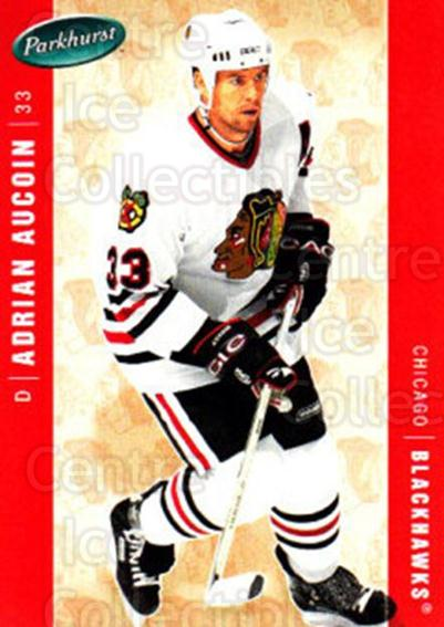 2005-06 Parkhurst #113 Adrian Aucoin<br/>7 In Stock - $1.00 each - <a href=https://centericecollectibles.foxycart.com/cart?name=2005-06%20Parkhurst%20%23113%20Adrian%20Aucoin...&quantity_max=7&price=$1.00&code=127656 class=foxycart> Buy it now! </a>