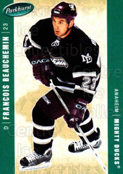 2005-06 Parkhurst #13 Francois Beauchemin<br/>7 In Stock - $1.00 each - <a href=https://centericecollectibles.foxycart.com/cart?name=2005-06%20Parkhurst%20%2313%20Francois%20Beauch...&quantity_max=7&price=$1.00&code=127674 class=foxycart> Buy it now! </a>
