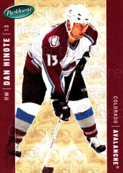 2005-06 Parkhurst #132 Dan Hinote<br/>7 In Stock - $1.00 each - <a href=https://centericecollectibles.foxycart.com/cart?name=2005-06%20Parkhurst%20%23132%20Dan%20Hinote...&quantity_max=7&price=$1.00&code=127677 class=foxycart> Buy it now! </a>
