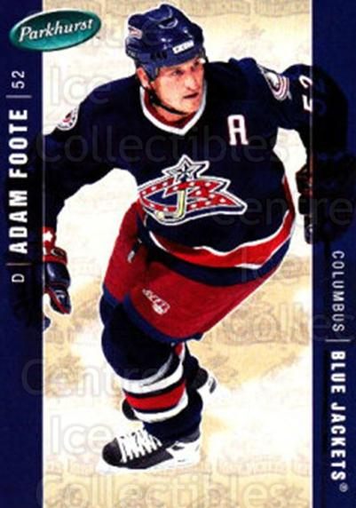 2005-06 Parkhurst #145 Adam Foote<br/>7 In Stock - $1.00 each - <a href=https://centericecollectibles.foxycart.com/cart?name=2005-06%20Parkhurst%20%23145%20Adam%20Foote...&quantity_max=7&price=$1.00&code=127691 class=foxycart> Buy it now! </a>