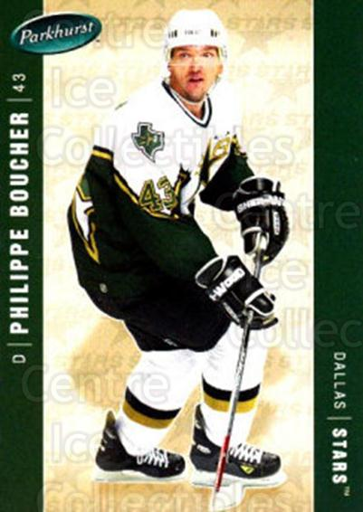 2005-06 Parkhurst #159 Philippe Boucher<br/>7 In Stock - $1.00 each - <a href=https://centericecollectibles.foxycart.com/cart?name=2005-06%20Parkhurst%20%23159%20Philippe%20Bouche...&quantity_max=7&price=$1.00&code=127706 class=foxycart> Buy it now! </a>