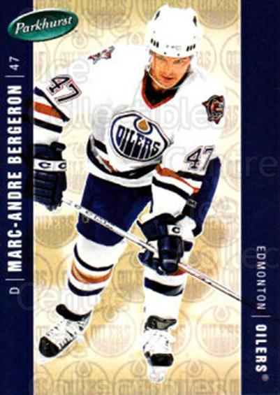 2005-06 Parkhurst #194 Marc-Andre Bergeron<br/>5 In Stock - $1.00 each - <a href=https://centericecollectibles.foxycart.com/cart?name=2005-06%20Parkhurst%20%23194%20Marc-Andre%20Berg...&quantity_max=5&price=$1.00&code=127745 class=foxycart> Buy it now! </a>