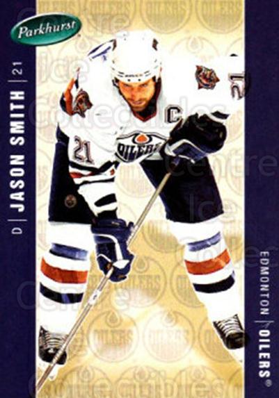 2005-06 Parkhurst #197 Jason Smith<br/>7 In Stock - $1.00 each - <a href=https://centericecollectibles.foxycart.com/cart?name=2005-06%20Parkhurst%20%23197%20Jason%20Smith...&quantity_max=7&price=$1.00&code=127748 class=foxycart> Buy it now! </a>