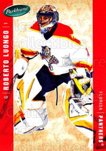 2005-06 Parkhurst #202 Roberto Luongo<br/>8 In Stock - $2.00 each - <a href=https://centericecollectibles.foxycart.com/cart?name=2005-06%20Parkhurst%20%23202%20Roberto%20Luongo...&quantity_max=8&price=$2.00&code=127755 class=foxycart> Buy it now! </a>