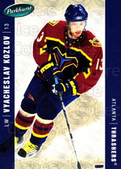 2005-06 Parkhurst #21 Vyacheslav Kozlov<br/>7 In Stock - $1.00 each - <a href=https://centericecollectibles.foxycart.com/cart?name=2005-06%20Parkhurst%20%2321%20Vyacheslav%20Kozl...&quantity_max=7&price=$1.00&code=127763 class=foxycart> Buy it now! </a>