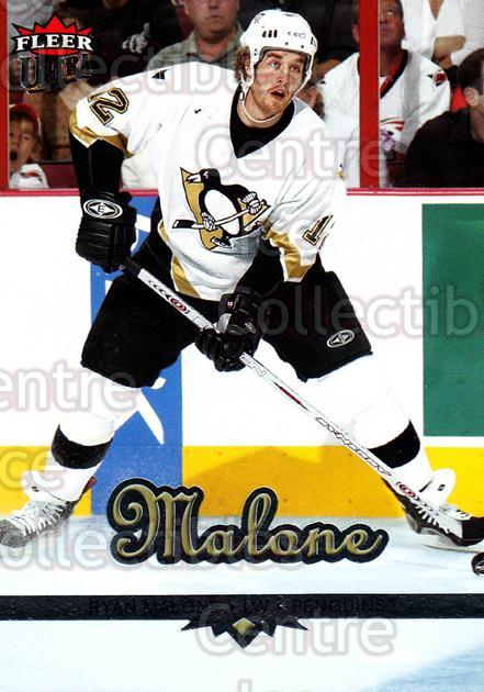 2005-06 Ultra #158 Ryan Malone<br/>10 In Stock - $1.00 each - <a href=https://centericecollectibles.foxycart.com/cart?name=2005-06%20Ultra%20%23158%20Ryan%20Malone...&quantity_max=10&price=$1.00&code=128770 class=foxycart> Buy it now! </a>