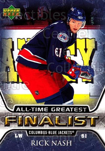 2005-06 Upper Deck All-Time Greatest #17 Rick Nash<br/>7 In Stock - $2.00 each - <a href=https://centericecollectibles.foxycart.com/cart?name=2005-06%20Upper%20Deck%20All-Time%20Greatest%20%2317%20Rick%20Nash...&quantity_max=7&price=$2.00&code=128860 class=foxycart> Buy it now! </a>