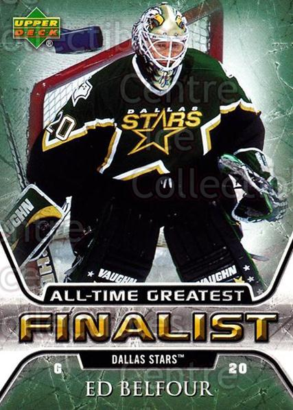 2005-06 Upper Deck All-Time Greatest #20 Ed Belfour<br/>5 In Stock - $2.00 each - <a href=https://centericecollectibles.foxycart.com/cart?name=2005-06%20Upper%20Deck%20All-Time%20Greatest%20%2320%20Ed%20Belfour...&quantity_max=5&price=$2.00&code=128864 class=foxycart> Buy it now! </a>