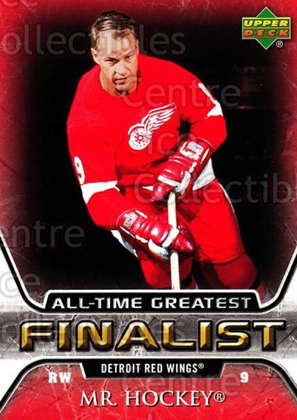 2005-06 Upper Deck All-Time Greatest #21 Gordie Howe<br/>2 In Stock - $2.00 each - <a href=https://centericecollectibles.foxycart.com/cart?name=2005-06%20Upper%20Deck%20All-Time%20Greatest%20%2321%20Gordie%20Howe...&quantity_max=2&price=$2.00&code=128865 class=foxycart> Buy it now! </a>