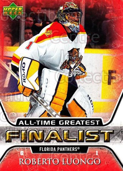 2005-06 Upper Deck All-Time Greatest #25 Roberto Luongo<br/>6 In Stock - $2.00 each - <a href=https://centericecollectibles.foxycart.com/cart?name=2005-06%20Upper%20Deck%20All-Time%20Greatest%20%2325%20Roberto%20Luongo...&quantity_max=6&price=$2.00&code=128867 class=foxycart> Buy it now! </a>