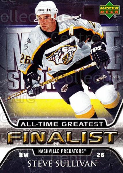 2005-06 Upper Deck All-Time Greatest #33 Steve Sullivan<br/>6 In Stock - $2.00 each - <a href=https://centericecollectibles.foxycart.com/cart?name=2005-06%20Upper%20Deck%20All-Time%20Greatest%20%2333%20Steve%20Sullivan...&quantity_max=6&price=$2.00&code=128873 class=foxycart> Buy it now! </a>