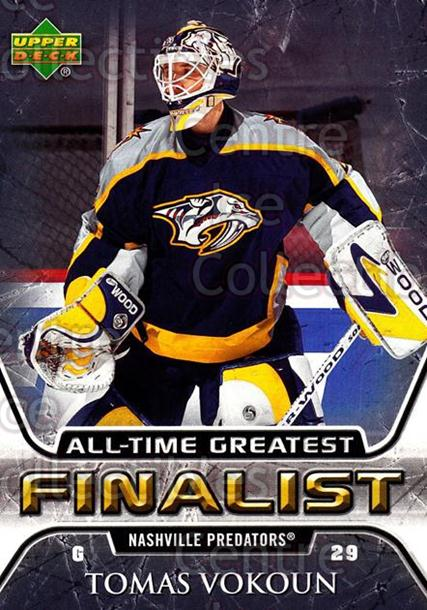 2005-06 Upper Deck All-Time Greatest #34 Tomas Vokoun<br/>8 In Stock - $2.00 each - <a href=https://centericecollectibles.foxycart.com/cart?name=2005-06%20Upper%20Deck%20All-Time%20Greatest%20%2334%20Tomas%20Vokoun...&quantity_max=8&price=$2.00&code=128874 class=foxycart> Buy it now! </a>