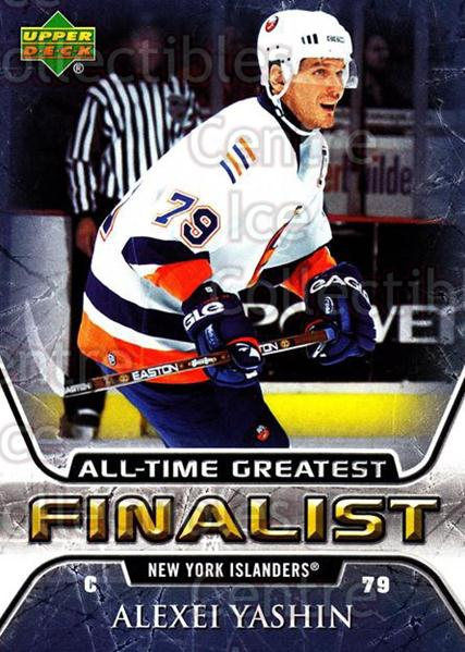 2005-06 Upper Deck All-Time Greatest #38 Alexei Yashin<br/>5 In Stock - $2.00 each - <a href=https://centericecollectibles.foxycart.com/cart?name=2005-06%20Upper%20Deck%20All-Time%20Greatest%20%2338%20Alexei%20Yashin...&quantity_max=5&price=$2.00&code=128876 class=foxycart> Buy it now! </a>