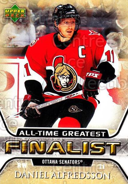 2005-06 Upper Deck All-Time Greatest #41 Daniel Alfredsson<br/>8 In Stock - $2.00 each - <a href=https://centericecollectibles.foxycart.com/cart?name=2005-06%20Upper%20Deck%20All-Time%20Greatest%20%2341%20Daniel%20Alfredss...&quantity_max=8&price=$2.00&code=128879 class=foxycart> Buy it now! </a>