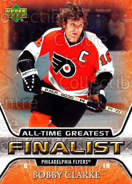 2005-06 Upper Deck All-Time Greatest #45 Bobby Clarke<br/>3 In Stock - $2.00 each - <a href=https://centericecollectibles.foxycart.com/cart?name=2005-06%20Upper%20Deck%20All-Time%20Greatest%20%2345%20Bobby%20Clarke...&quantity_max=3&price=$2.00&code=128883 class=foxycart> Buy it now! </a>