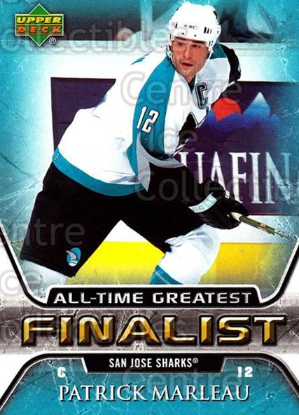 2005-06 Upper Deck All-Time Greatest #51 Patrick Marleau<br/>9 In Stock - $2.00 each - <a href=https://centericecollectibles.foxycart.com/cart?name=2005-06%20Upper%20Deck%20All-Time%20Greatest%20%2351%20Patrick%20Marleau...&quantity_max=9&price=$2.00&code=128888 class=foxycart> Buy it now! </a>