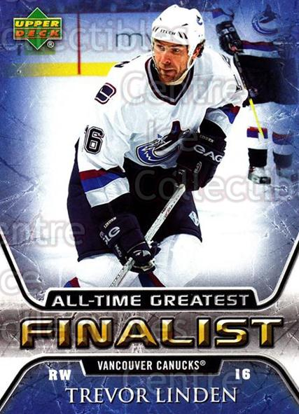 2005-06 Upper Deck All-Time Greatest #58 Trevor Linden<br/>2 In Stock - $2.00 each - <a href=https://centericecollectibles.foxycart.com/cart?name=2005-06%20Upper%20Deck%20All-Time%20Greatest%20%2358%20Trevor%20Linden...&quantity_max=2&price=$2.00&code=128895 class=foxycart> Buy it now! </a>