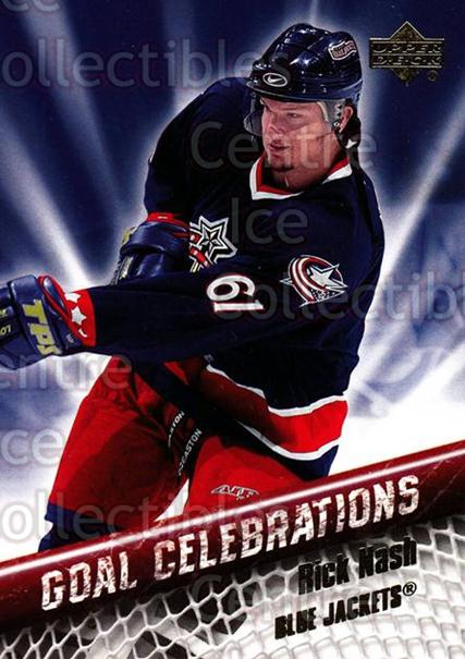 2005-06 Upper Deck Goal Celebrations #6 Rick Nash<br/>6 In Stock - $2.00 each - <a href=https://centericecollectibles.foxycart.com/cart?name=2005-06%20Upper%20Deck%20Goal%20Celebrations%20%236%20Rick%20Nash...&quantity_max=6&price=$2.00&code=128922 class=foxycart> Buy it now! </a>