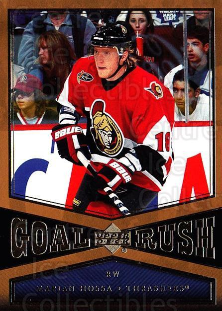 2005-06 Upper Deck Goal Rush #11 Marian Hossa<br/>6 In Stock - $3.00 each - <a href=https://centericecollectibles.foxycart.com/cart?name=2005-06%20Upper%20Deck%20Goal%20Rush%20%2311%20Marian%20Hossa...&quantity_max=6&price=$3.00&code=128925 class=foxycart> Buy it now! </a>