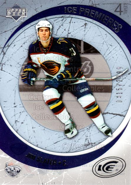 2005-06 UD Ice #143 Jim Slater<br/>3 In Stock - $3.00 each - <a href=https://centericecollectibles.foxycart.com/cart?name=2005-06%20UD%20Ice%20%23143%20Jim%20Slater...&quantity_max=3&price=$3.00&code=128957 class=foxycart> Buy it now! </a>