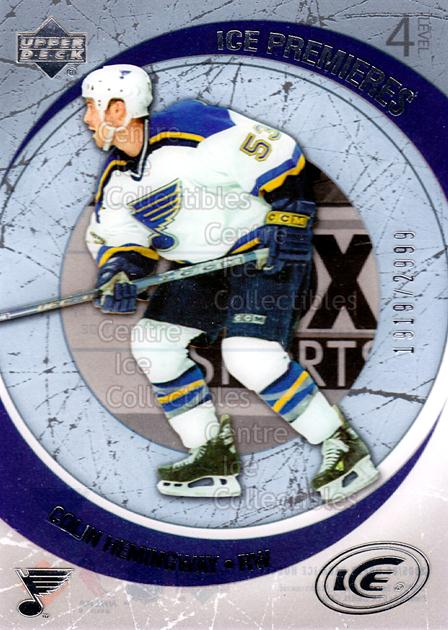 2005-06 UD Ice #169 Colin Hemingway<br/>3 In Stock - $3.00 each - <a href=https://centericecollectibles.foxycart.com/cart?name=2005-06%20UD%20Ice%20%23169%20Colin%20Hemingway...&quantity_max=3&price=$3.00&code=128981 class=foxycart> Buy it now! </a>