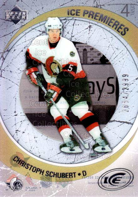 2005-06 UD Ice #178 Christoph Schubert<br/>4 In Stock - $3.00 each - <a href=https://centericecollectibles.foxycart.com/cart?name=2005-06%20UD%20Ice%20%23178%20Christoph%20Schub...&quantity_max=4&price=$3.00&code=128991 class=foxycart> Buy it now! </a>