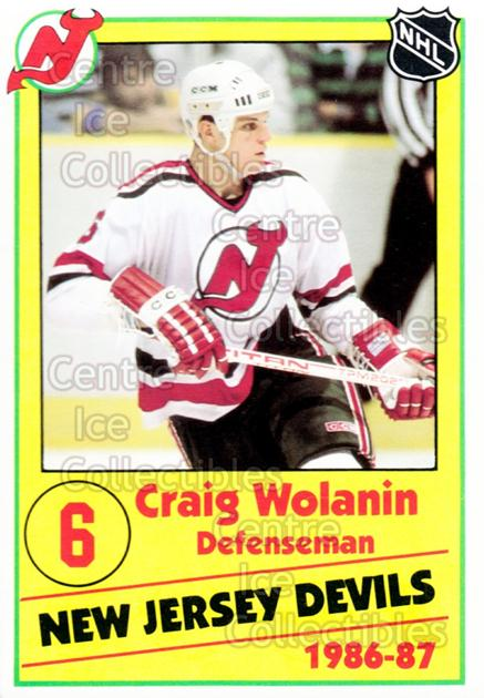 1986-87 New Jersey Devils Police #20 Craig Wolanin<br/>6 In Stock - $3.00 each - <a href=https://centericecollectibles.foxycart.com/cart?name=1986-87%20New%20Jersey%20Devils%20Police%20%2320%20Craig%20Wolanin...&quantity_max=6&price=$3.00&code=128 class=foxycart> Buy it now! </a>