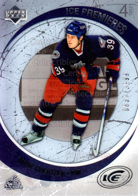 2005-06 UD Ice #192 Steve Goertzen<br/>4 In Stock - $3.00 each - <a href=https://centericecollectibles.foxycart.com/cart?name=2005-06%20UD%20Ice%20%23192%20Steve%20Goertzen...&quantity_max=4&price=$3.00&code=129002 class=foxycart> Buy it now! </a>