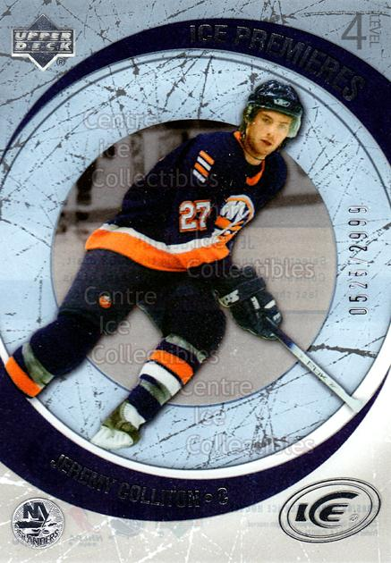 2005-06 UD Ice #203 Jeremy Colliton<br/>5 In Stock - $3.00 each - <a href=https://centericecollectibles.foxycart.com/cart?name=2005-06%20UD%20Ice%20%23203%20Jeremy%20Colliton...&quantity_max=5&price=$3.00&code=129010 class=foxycart> Buy it now! </a>