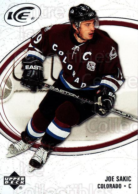 2005-06 UD Ice #22 Joe Sakic<br/>3 In Stock - $2.00 each - <a href=https://centericecollectibles.foxycart.com/cart?name=2005-06%20UD%20Ice%20%2322%20Joe%20Sakic...&quantity_max=3&price=$2.00&code=129024 class=foxycart> Buy it now! </a>